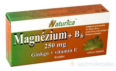 ee1b729ee Naturica MAGNEZIUM 250 mg+B6+Ginkgo+vitamín E tbl 1x30 ks - Lekáreň ...